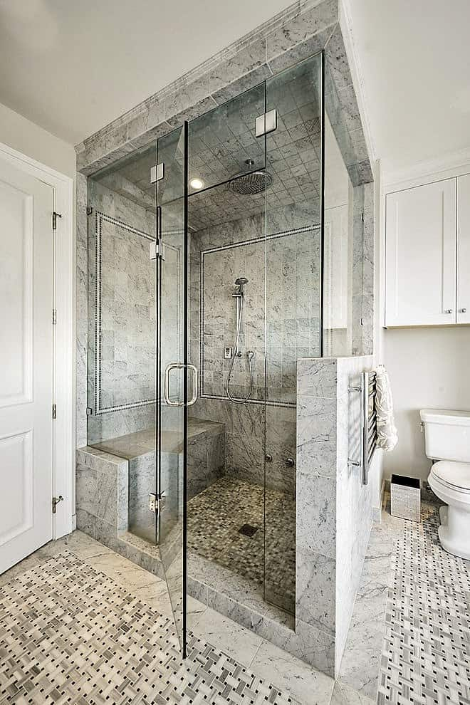 elegant natural stone bathroom