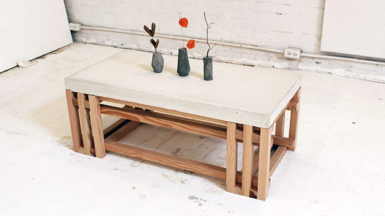 Diy Concrete Coffee Table Instructions Here