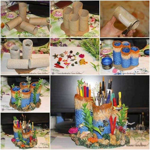Toilet paper roll crafts to keep your home organized for Waste material craft ideas in hindi