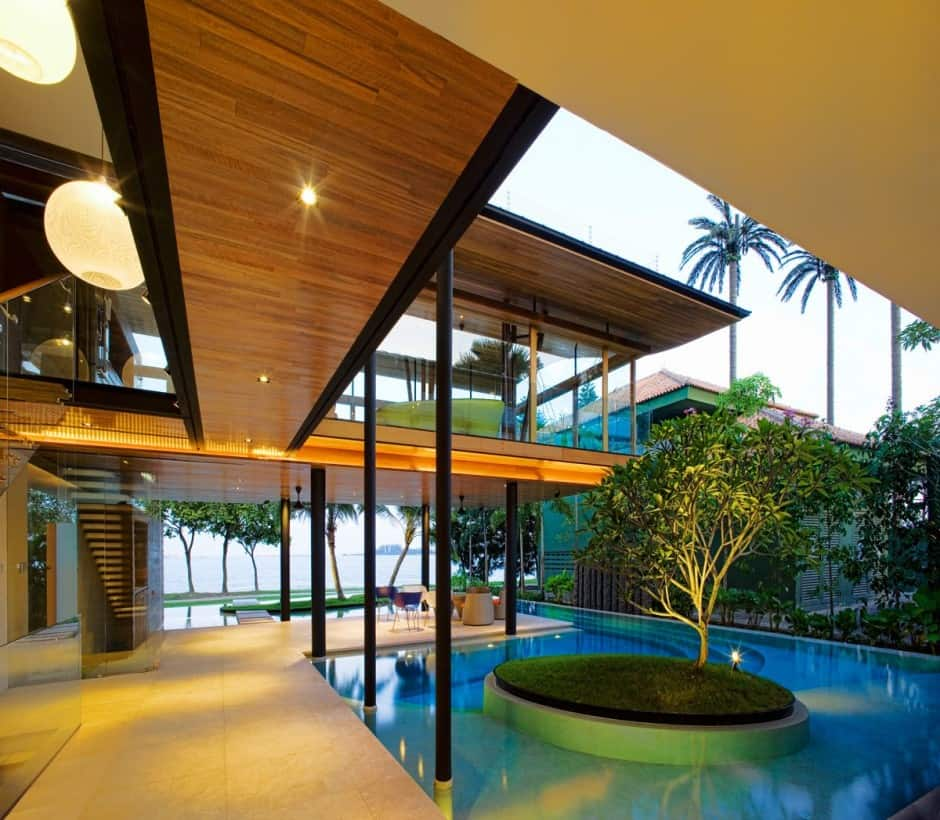 Exotic modern mansion in singapore the fish house