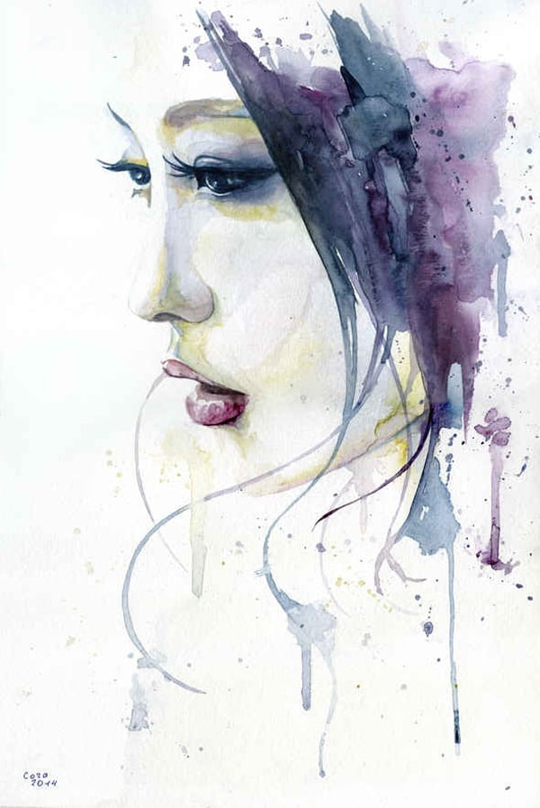 impressive watercolor portrait
