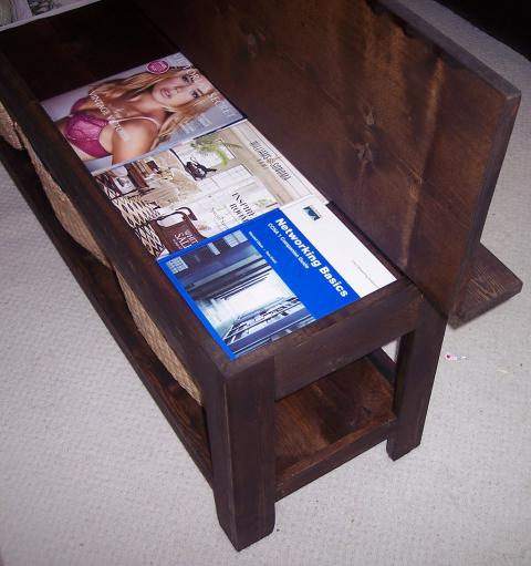FLIP TOP STORAGE BENCH coffee table homesthetics