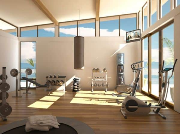 A gym flood by light and fresh air has some clear advantages.
