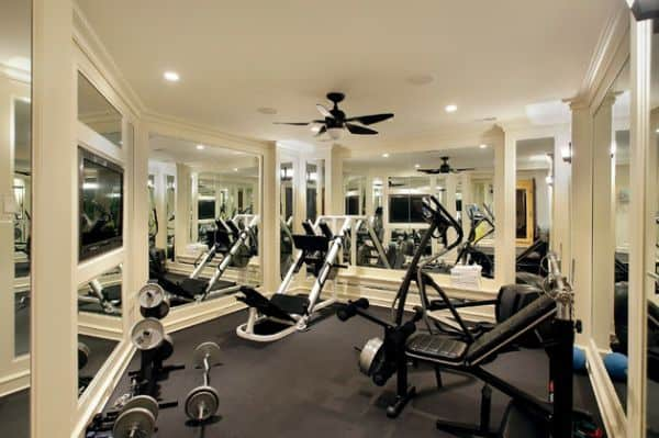 mirrors are used in gyms to control movements - In Home Gym Designs