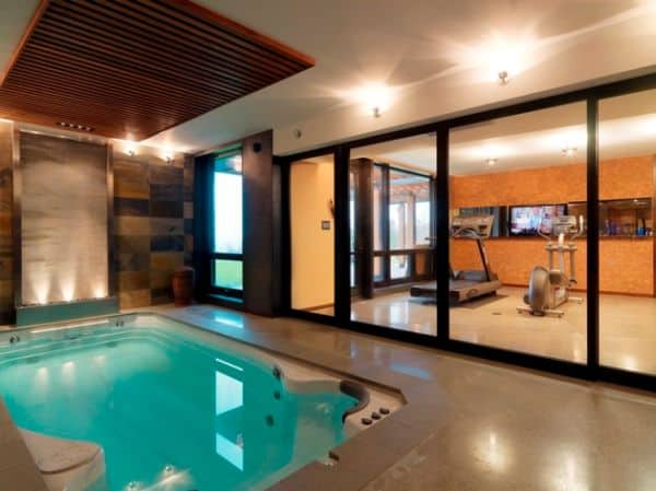 Have a beautiful swim spa session after your work out. A great way to keep yourself healthy.