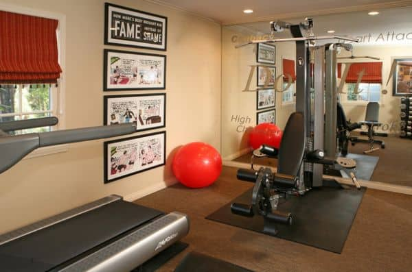 Bring in framed comic books and follow your dreams, get fit like Batman or Superman in your home gym.