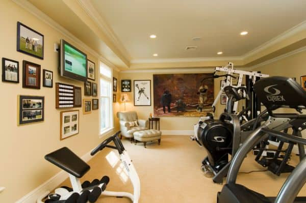 Cherished sports memorabilia could be beautiful additions in your home gym