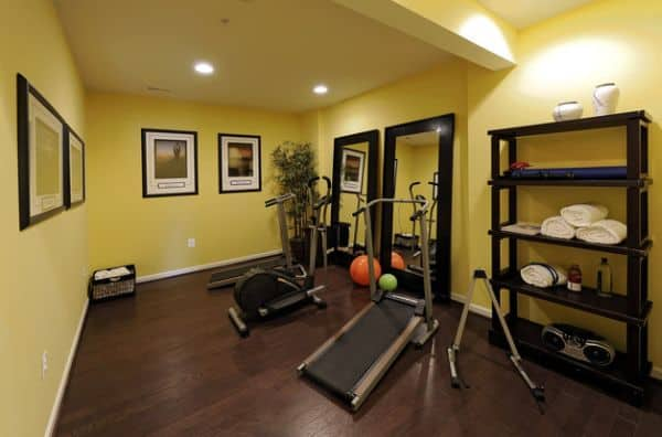 inspire calm in your home gym with a light color - Home Gym Design Ideas