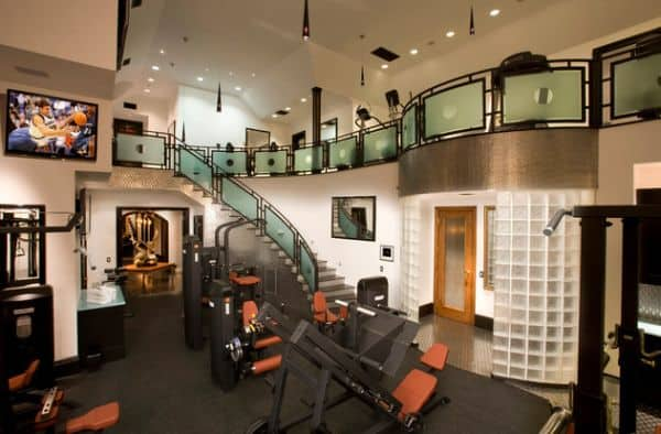 Custom Two Story Home Gym Offering Everything That Would Would Need.