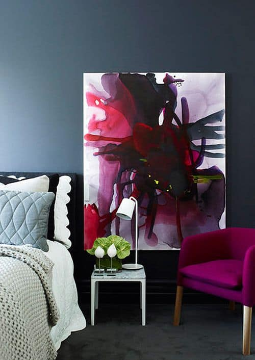 bold contrasting canvas painting ideas