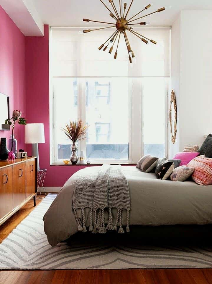 pink powerful statement wall