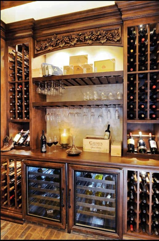 Bar meets wine cellar...