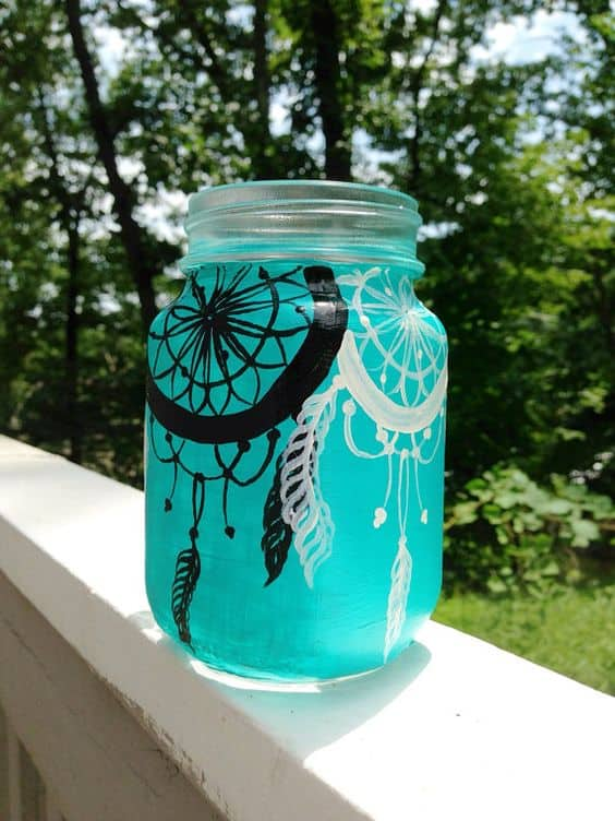 How To Paint Glass homesthetics.net mason jar painting (5)
