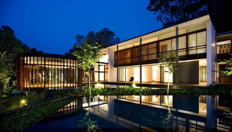 Screen house by k2ld architects exotic modern mansion