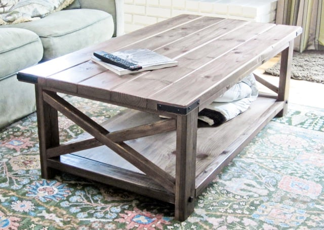 Elegant Simple Free DIY Coffee Table Plans homesthetics