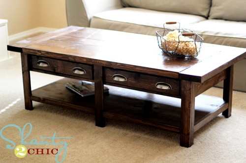 Benchright Coffee Table Rustic From Pine Boards