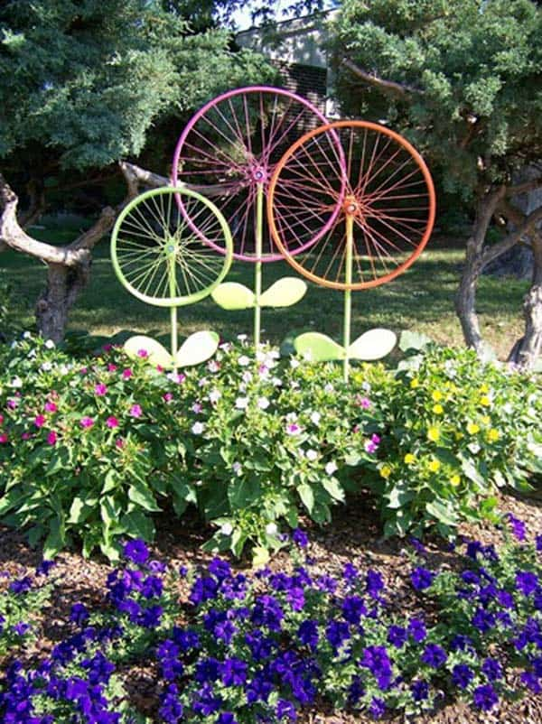 Simple Low Budget DIY Garden Art Flower Yard Projects To Do homesthetics (11)