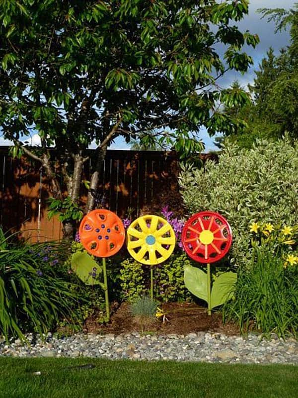 Simple Low Budget DIY Garden Art Flower Yard Projects To Do homesthetics (16)