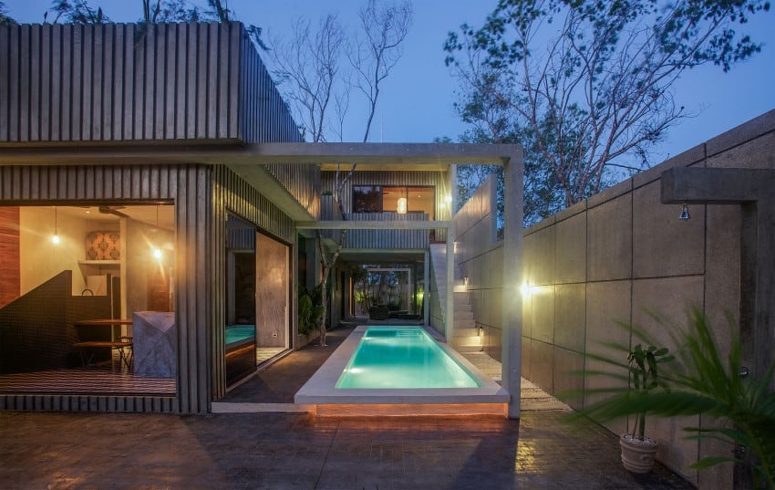 Vibrant Home in Tulum Mexico Entitled T House homesthetics architecture 19