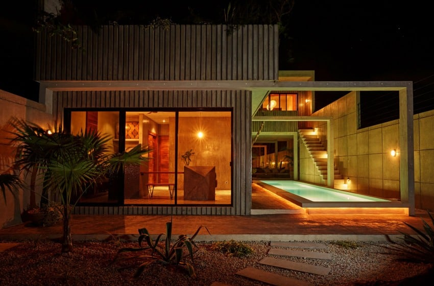 Vibrant Home in Tulum Mexico Entitled T-House homesthetics architecture (20)