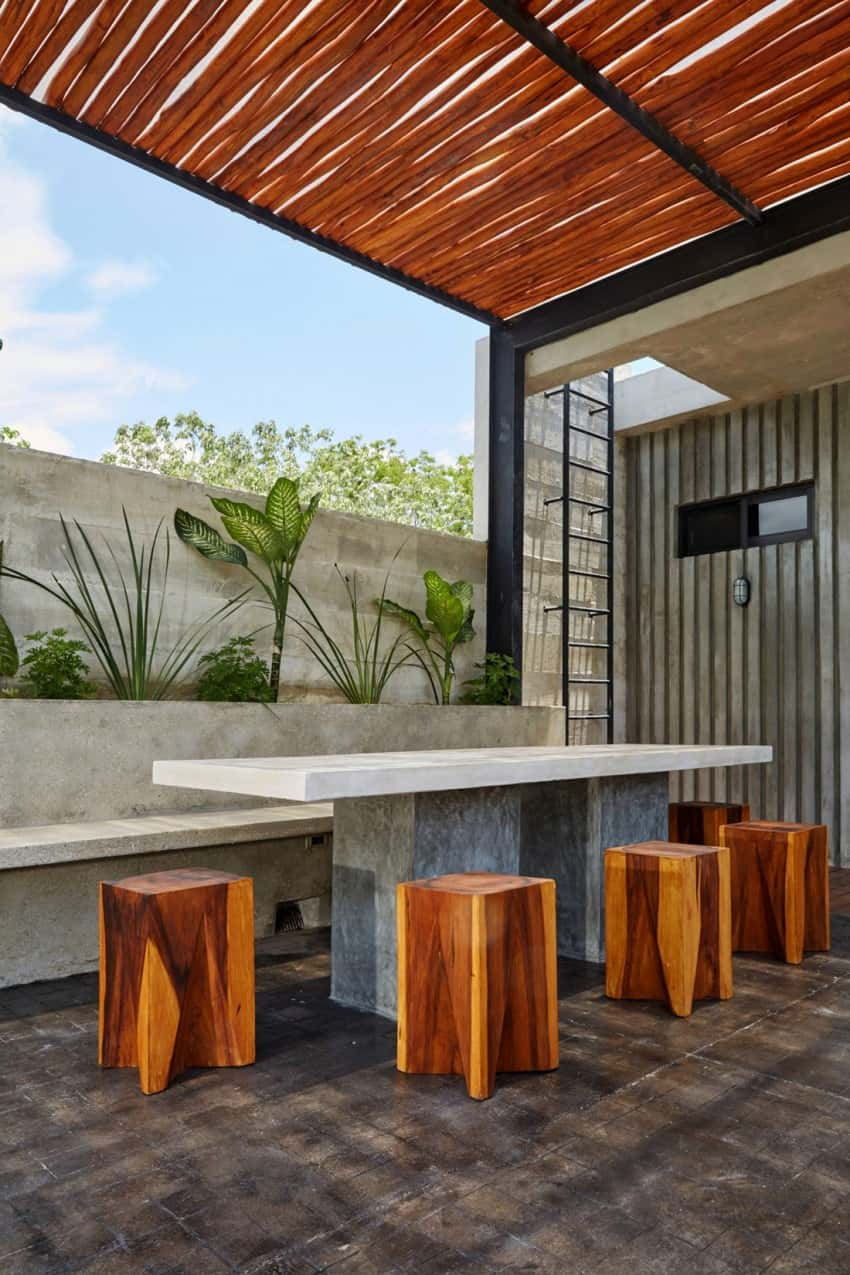 Vibrant Home in Tulum Mexico Entitled T-House homesthetics architecture (6)