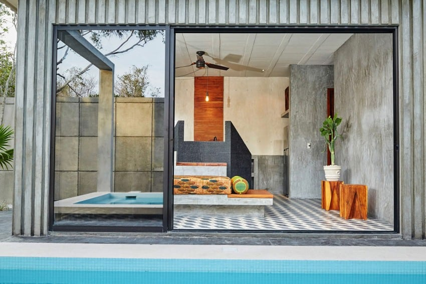Vibrant Home in Tulum Mexico Entitled T-House homesthetics architecture (8)