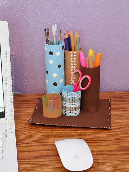 cardboard-tube-desk-caddy