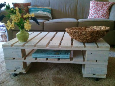 DOUBLE PALLET COFFEE TABLE