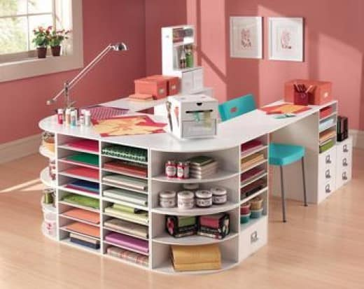 How to make a crafting table that organizes everything for Building a craft room