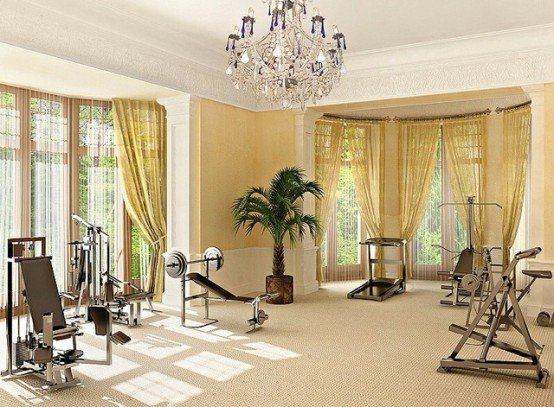 Luxurious elegant gym designs are an option as well.