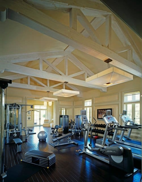 An expansive attic space to shelter your gym is ideal