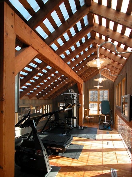 f you are to transform your shed, try to include natural light into the setting, a skylight or a complete sun roof can do wonders.