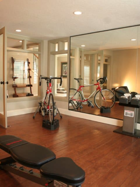Traditional spaces can nestle gyms too, in a beautiful manner.
