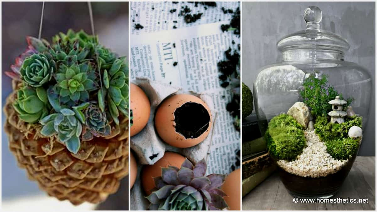Welcome spring with 20 creative diy garden projects for Homemade garden decorations