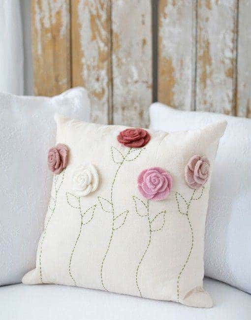 embroded pillow case homesthetics