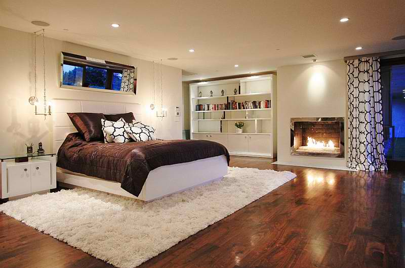 immense stark white bedroom basement
