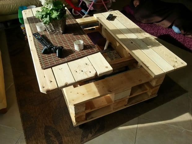 Multistorage Coffee Table Pallet Homesthetics