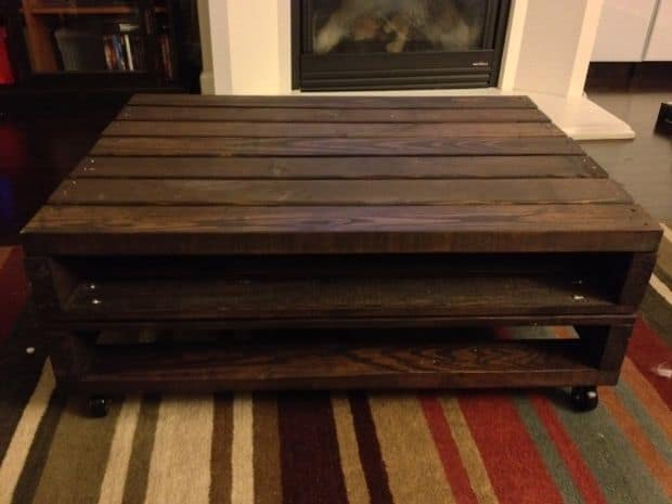 pallet coffee table woth storage homesthetics.net
