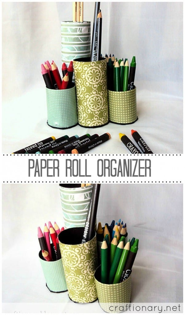 recycle-paper-roll organizer