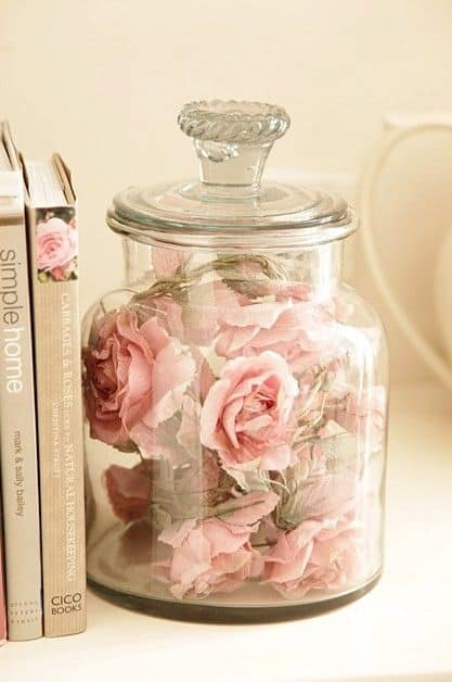 rose glass container homestehtics