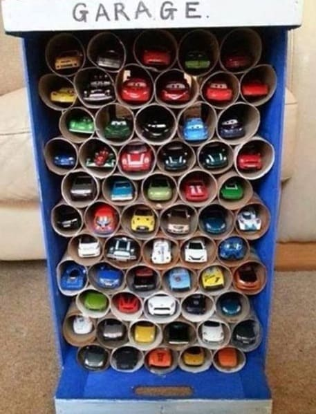 pretty garage ideas - Toilet Paper Roll Crafts to Keep Your Home Organized