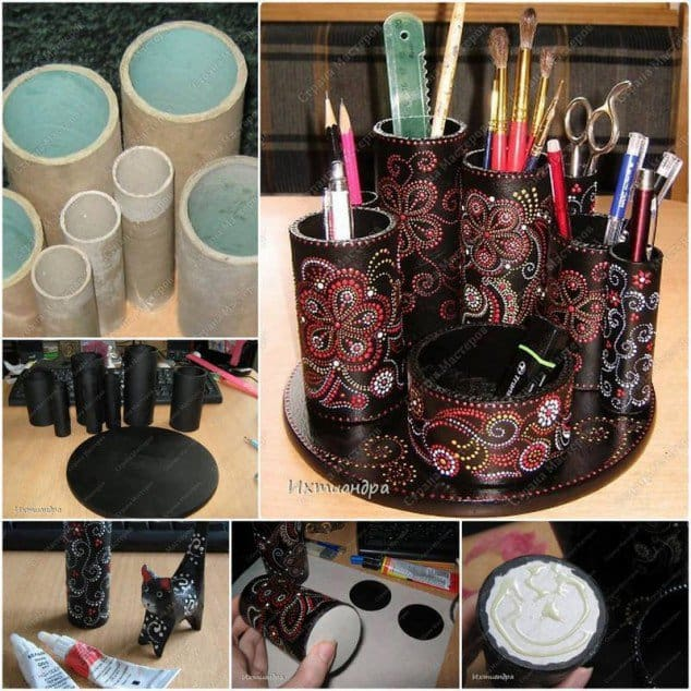 Toilet paper roll crafts to keep your home organized for Create things from waste