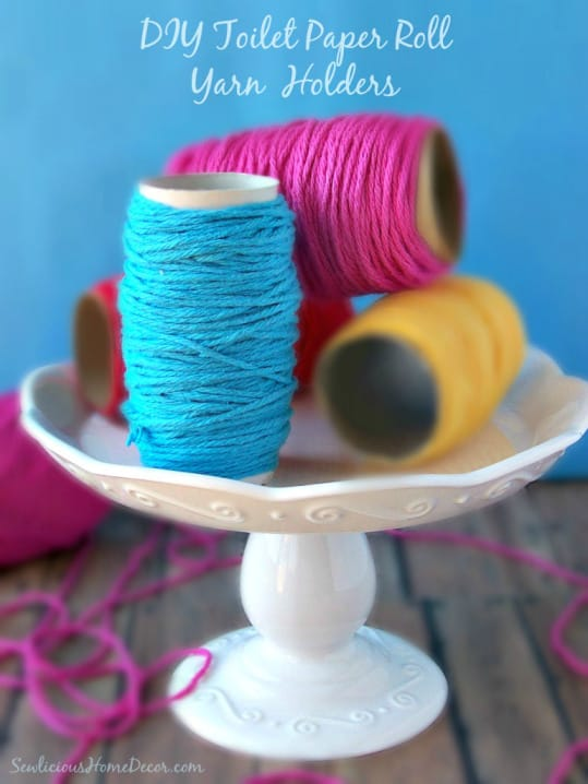 Toilet Paper Roll Crafts yarn organizer
