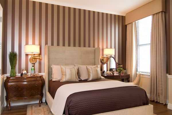 vertical stripes can encourage veriticality in your bedroom