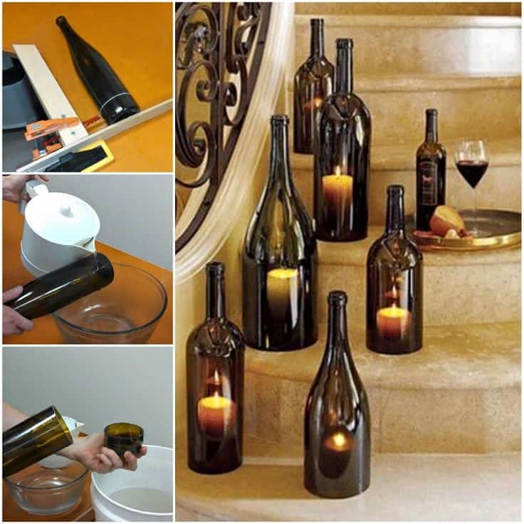 Wine bottle candles for special occasions