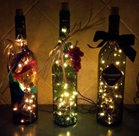 wine bottle craft decorated