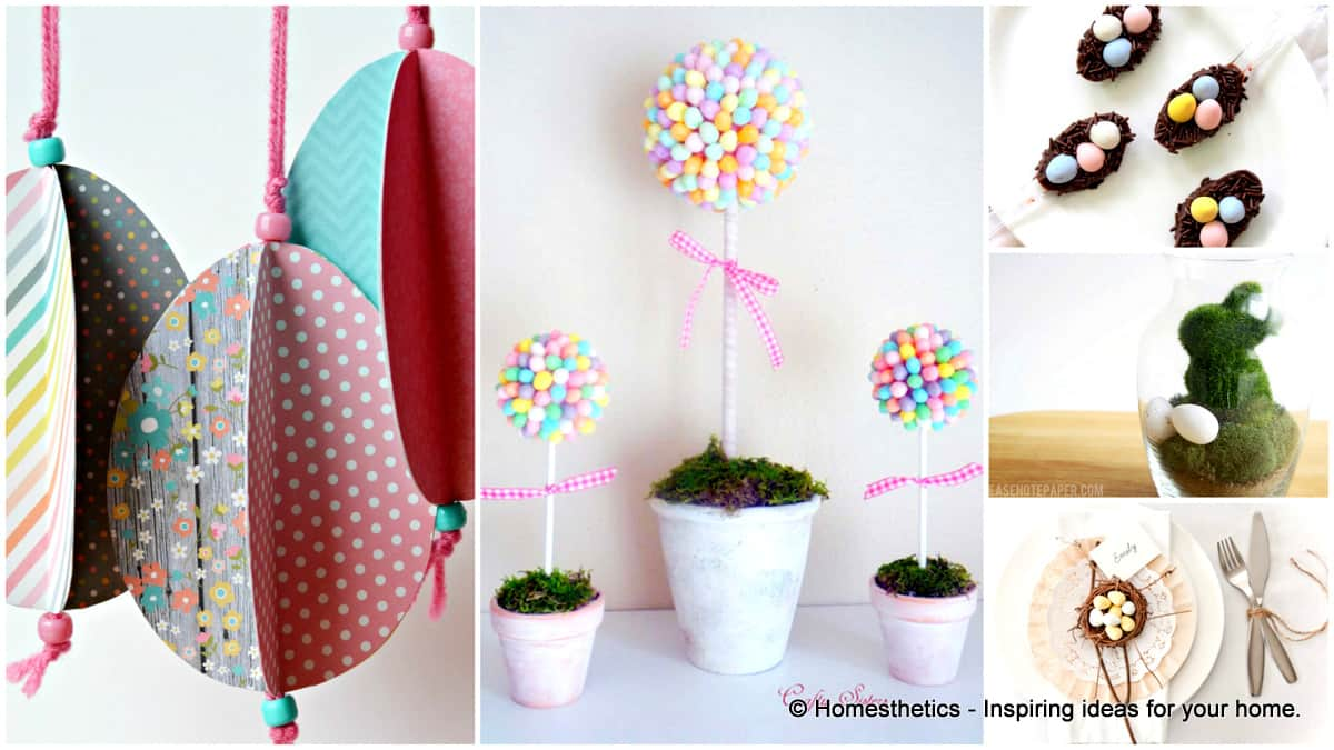 easter decorating ideas to beautify your easter 29 Splendid Easy Easter Crafts to Beautify Your Home