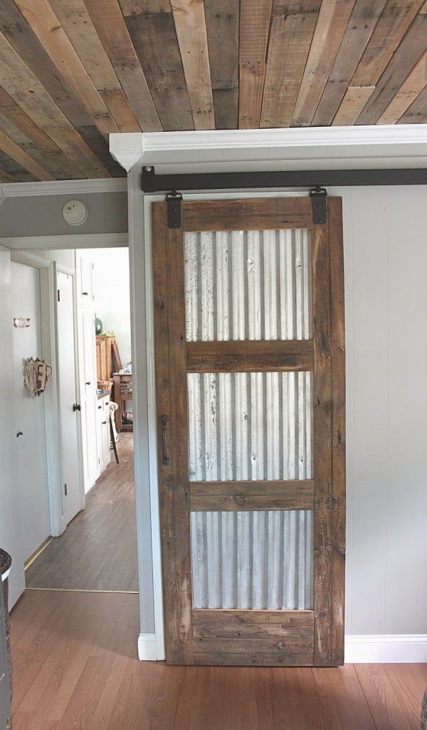#99. PALLET WOOD TURNED INTO A SLIDING DOOR