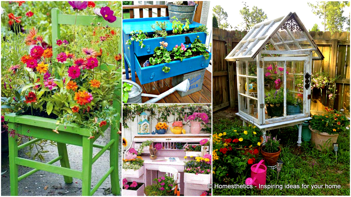 13 upcycled furniture ideas for your home and garden for Ideas for your garden