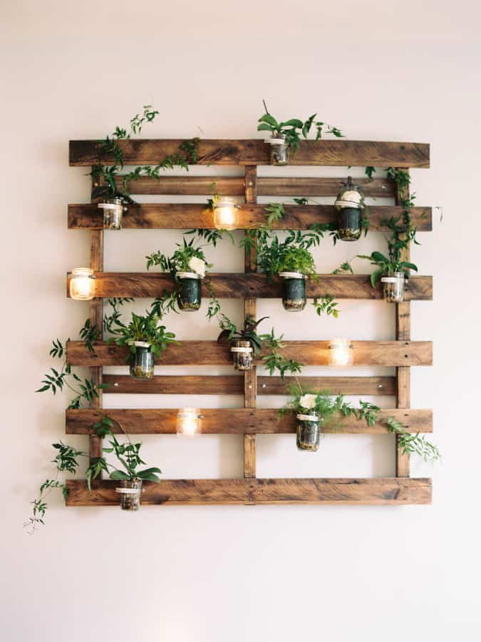 #17. WOODEN PALLETS TURNED INDOOR VERTICAL GARDEN